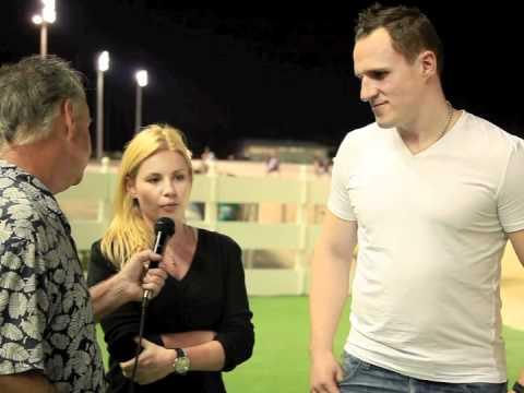 Dion Phaneuf and Elisha Cuthbert visit Pompano Park