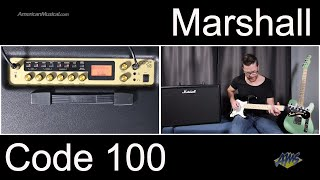 Marshall Code 100 Quick Listen Demo Video by Shawn Tubbs