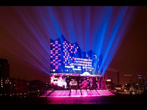 Ode an die Freude Elbphilharmonie Lichtshow