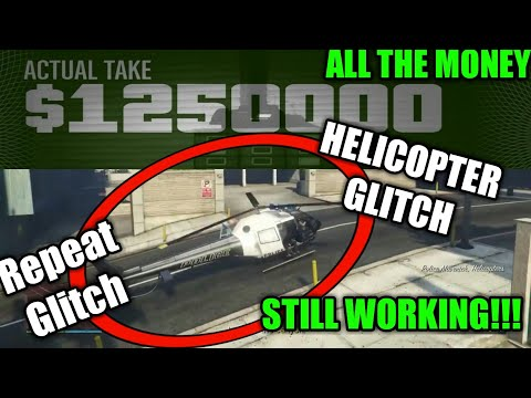 GTA 5 Pacific Standard Heist Helicopter Glitch All Money (Still Working)