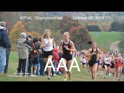 2017 WPIAL  CHAMPIONSHIPS     AAA  Girls  XC  and AWARDS  10 26 17 russell