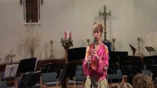 "Evelyn Nallen plays ""Music for a Bird"" / recorder"