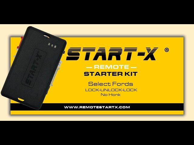 Start-X Remote Start Install For F-150 2015+ and select Fords. LOCK UNLOCK LOCK