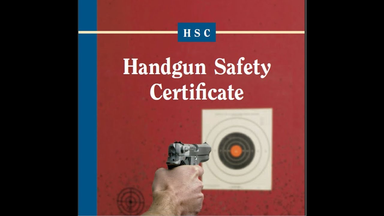 California Handgun Safety Certificate Info - YouTube