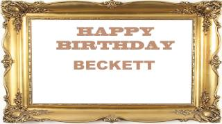 Beckett   Birthday Postcards & Postales - Happy Birthday
