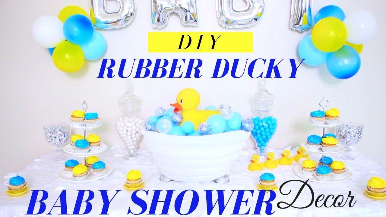 Diy Rubber Ducky Baby Shower Centerpiece Baby Shower Decorations