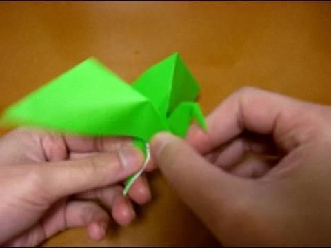 origami flapping bird 2