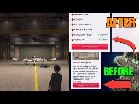 GTA5 Online Buying A Hanger On Sale At Fort Zancudo Military Base Let The Air Freight Business Begin