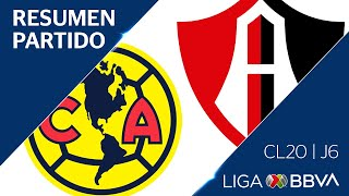 Resumen y Goles | América vs Atlas | Jornada 6 - Clausura 2020 | Liga BBVA MX