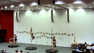 Group Routine Edinburgh University- Interuniversity Poledance Competition in Essex 2014