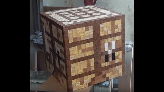 How To Make A Minecraft Crafting Table Woodmade Youtube
