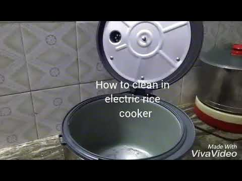How to clean after cook in electric cooker in Tamil.