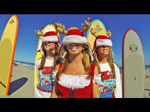 All About The Beach - Cocoa Beach - Surfin Santas (OFFICIAL VIDEO) 2014 Christmas Surfing promo