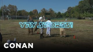 """Star Wars"" Fans Learn About Football  - CONAN on TBS"