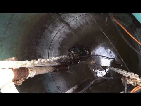 How to Re Install a single sewage pump on a guide rail