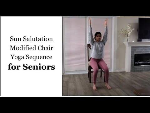 sun salutation modified chair yoga sequence  youtube