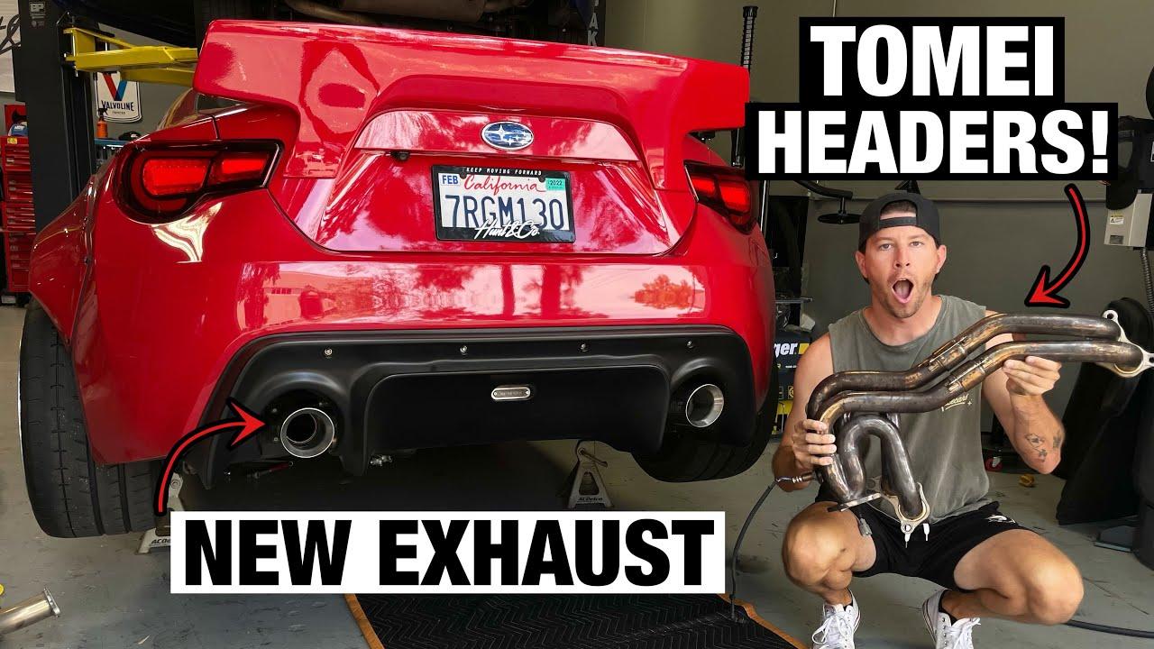 Making the BRZ LOUDER! UEL Headers + Catback Exhaust!