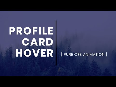 Simple Profile Card Hover Effect | CSS User Profile Card Design