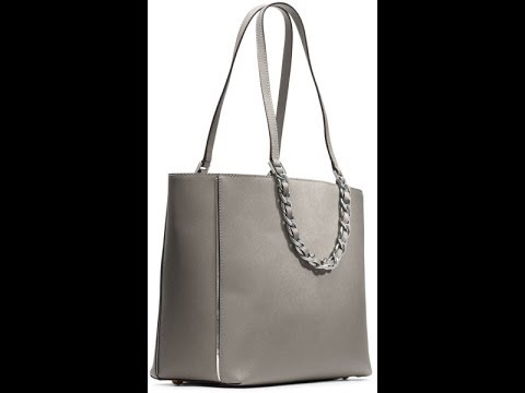 3738fa6765c905 MICHAEL KORS Harper Specchio Large East West Tote (pearl grey) - YouTube