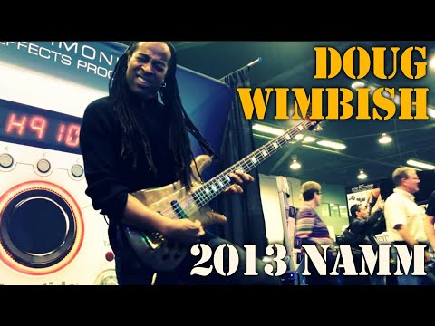 Doug Wimbish at the 2013 NAMM Show at Eventide's booth