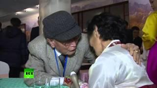 Со слезами на глазах: встреча родственников из Южной и Северной Кореи