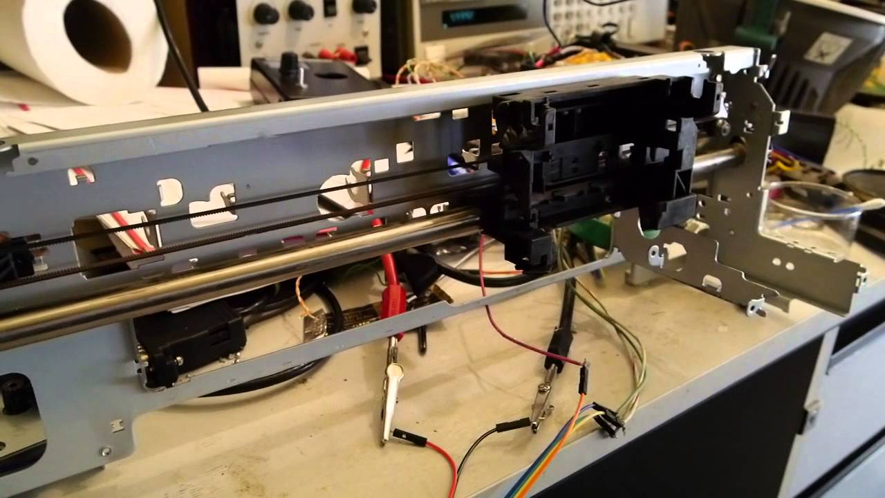 arduino easydriver old printer with stepper motor