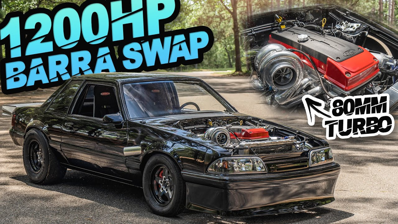 """Download 1200HP Barra Powered Foxbody in the USA! """"American"""" 2JZ (4.0L Turbo Inline-6)"""