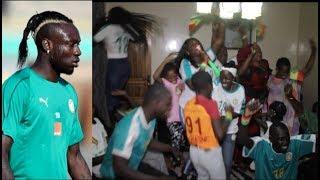 Une folle ambiance chez Mbaye Diagne après la qualification des lions