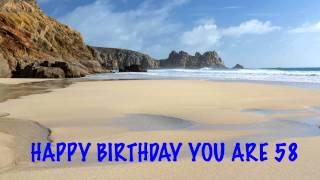 58 Birthday Beaches & Playas
