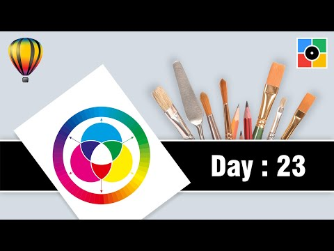 Day 23 : How to Create Perfect Color Wheel in CorelDraw in Marathi.
