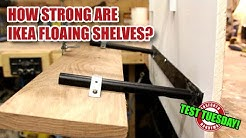 How strong is an IKEA Lack floating shelf on plasterboard? TEST TUESDAY! [144]