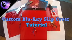 Custom Blu-Ray Slip Cover Tutorial | How To Make Your Own | DVD/Blu-Ray Sleeve