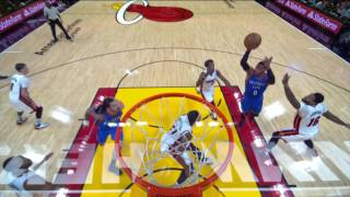 Adams Dunks Over Whiteside Thunder vs Heat December 27, 2016