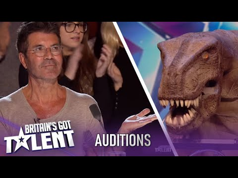 A Singing T-Rex? ALL That Simon Cowell Ever Wanted!| Britain's Got Talent 2020