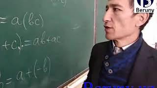 Скачать Matematika Algebra 7 Sinf 3 Dars Algebraik Amallarning Xossalari