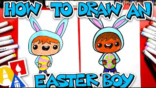 How To Draw An Easter Boy
