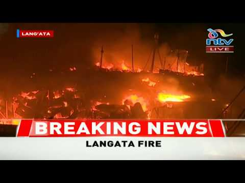 Huge fire engulfs Kijiji slums in Southlands Lang'ata