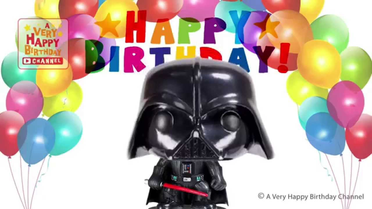 Darth Vader Sings Happy Birthday Song Greetings Star Wars Theme Party Celebration Youtube