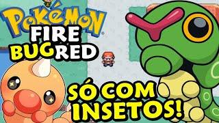 ZERANDO POKÉMON FIRE RED COM O PIOR TIPO - Pokémon FireRed Monotype Insetos (Bug) #1