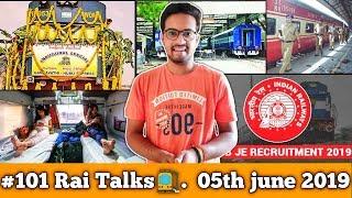 #101 Rail Talks:- RRB Admit Card 2019, Southern Railways Recruitment, Major Station Security