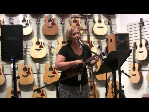 Robin Johnston at the Portland Music Company Acoustic Open Mic