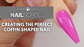YN NAIL SCHOOL - CREATING THE PERFECT COFFIN SHAPED NAIL