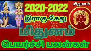 மிதுனம் ராகு கேது பெயர்ச்சி பலன்கள் 2020| Mithunam Rahu ketu peyarchi palan 2020| JOTHIDA RASI PALAN