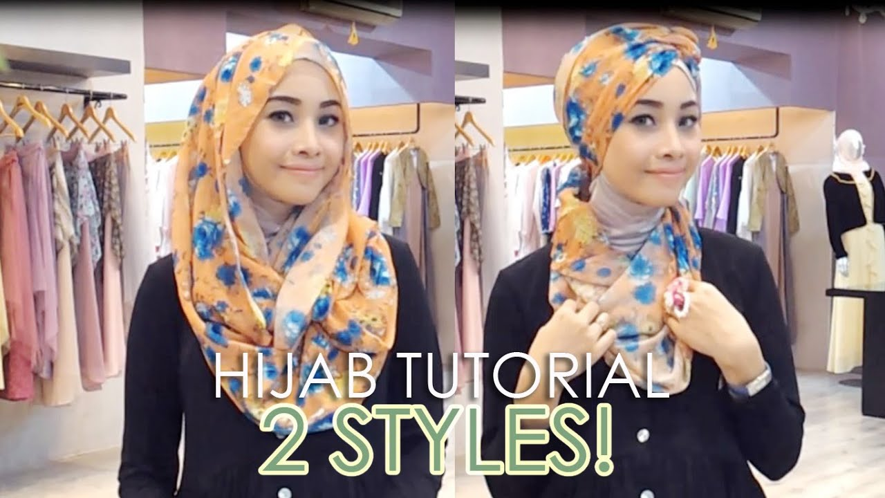 HIJAB TUTORIAL NECKLACE SHAWL TURBAN IRNA DEWI YouTube