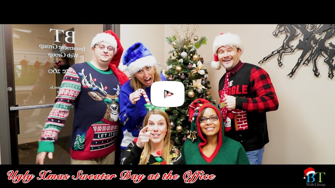 Ugly Xmas Sweater Day At The Office Youtube