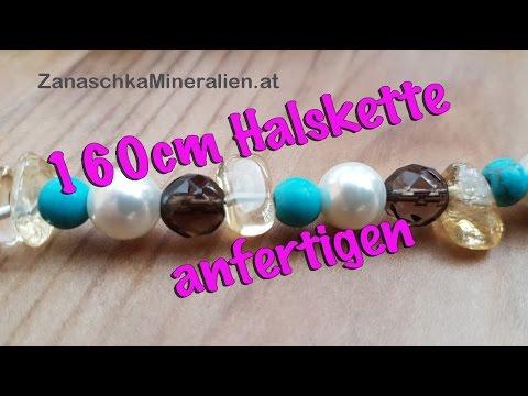 160cm Halskette selber machen – Endloskette – DIY – Schmuck selber machen