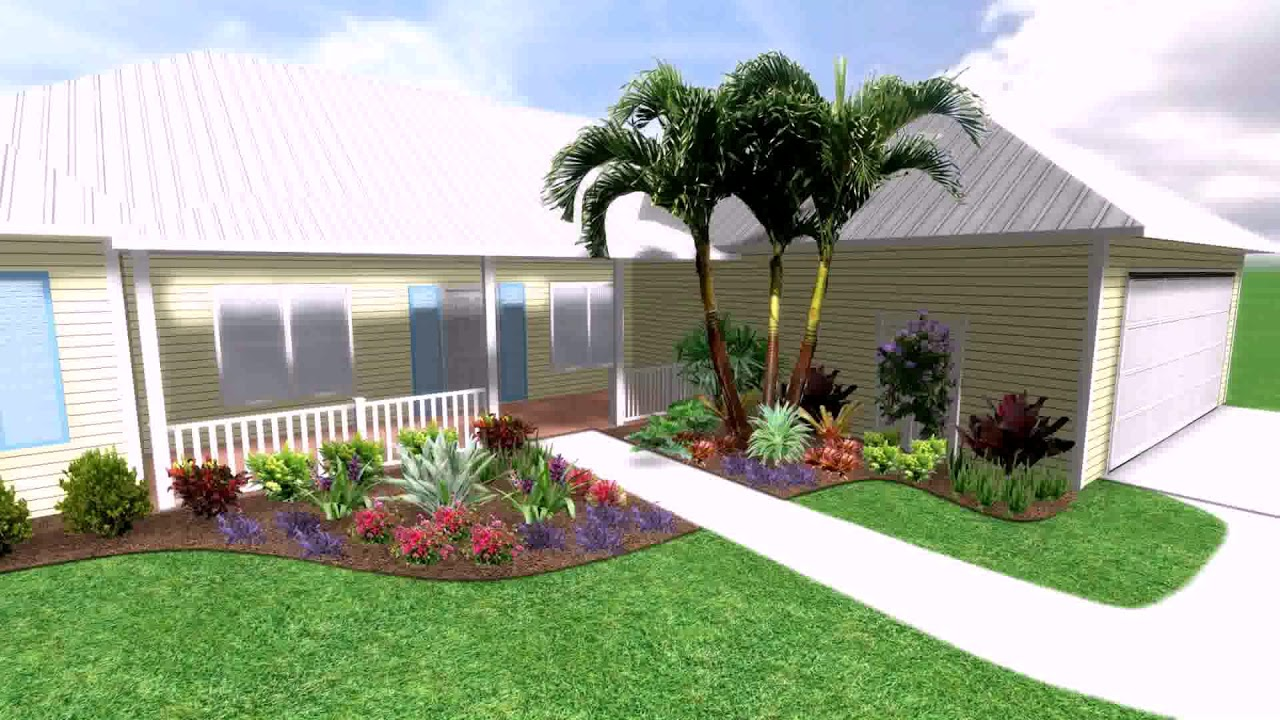 Landscape Design Ideas Front Yard Florida - YouTube