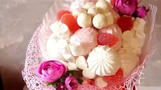 Букет из зефира. Bouquet of marshmallows
