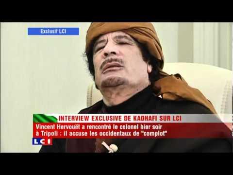 Kadhafi- l\'interview exclusive en intégralité