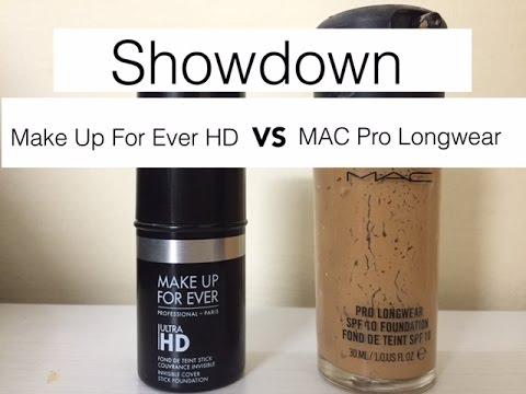 Watt Orale Oppressore  MAC Pro Longwear VS Makeup For Ever HD Stick - YouTube